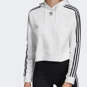 Adidas cropped hoodie (white)
